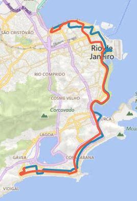 itinerário da linha 2017 copacabana e leblon rodoviaria rio